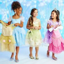Disney Store Princess Wardrobe Costume Dress Set of 5 Girls Belle Aurora 7/8