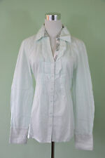 BETTY BARCLAY New £70 Womens Ruff Frill Front Classic Shirt Blouse sz 14 O80 22f5f28dab