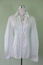 BETTY BARCLAY New £70 Womens Ruff Frill Front Classic Shirt Blouse sz 14 O80