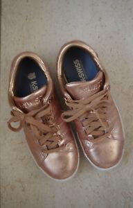 Coole K-Swiss Lozan Iii Aged Foil Leder Damen Sneaker*Gold Rose White* 40