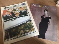 Night & Day The Mail on Sunday Princess Diana Magazine, Sept 7 1997