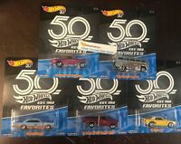 5 Car Set B Case * 2018 Hot Wheels 50th Favorites Gasser, T1 Drag Camaro