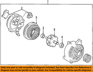 FORD OEM 04-08 E-350 Super Duty-Alternator 6C2Z10346CA