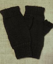 Men'S 100% Wool Black Fingerless Gloves Civil War Victorian Dickens