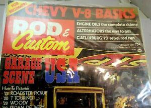 Rod & Custom February 1974 Magazine Chevy  V-8 Basics Garage Scene USA