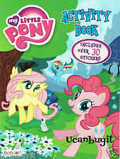 MY LITTLE PONY Activity & Coloring Children's Book w/30 + Stickers Ages 4+