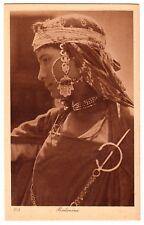 LEHNERT & LANDROCK #108 Bedouin Girl w Rich Jewelry * Vintage 1910s Ethnic PC