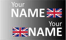 Handed Rally Name Decals Union Jack