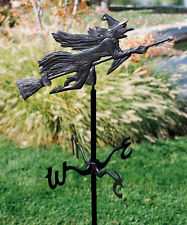 Whitehall Witch Flying Garden Weathervane Black - Includes Mount