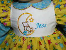"""New Jess Embroidered Name Bear in Moon Dress 18"""" Doll clothes fits American Girl"""