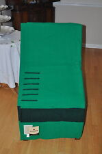 HUDSON  BAY  BLANKET/NEW SIX POINT GREEN (QUEEN SIZE)