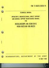 Oscilloscope AN/USM-281C, Operator's and Maintenance