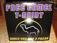 Vintage 1998 Camel Cigarettes Pocket T-Shirt Size XL Mint New With Original Box