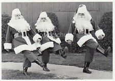 "Postkarte, Weihnachtskarte, tanzende Weihnachtsmänner ""Jingle Bell Rock"""