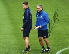 Foto Autografo Calcio Roberto Mancini - Asta di Beneficenza Soccer Sport Signed