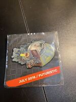 Rick and Morty Ship - Futuristic  July 2016 - Loot Crate Pin