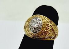 WWII WOMENS U.S. NAVAL ACADEMY TIFFANY 14K GOLD 20 PT DIAMOND CLASS RING,3.5,BOX