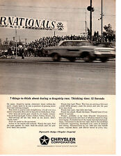 1964 DODGE / PLYMOUTH @ WINTERNATIONALS ~ ORIGINAL CHRYSLER PRINT AD