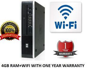 HP COMPAQ ELITE 8000 USDT ULTRA SLIM DESKTOP PC CORE 2 DUO 4GB DDR3 -HDD 250GB