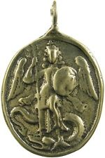 ST. MICHAEL / CROSS OF ST. MICHAEL Medal, bronze, cast from antique original