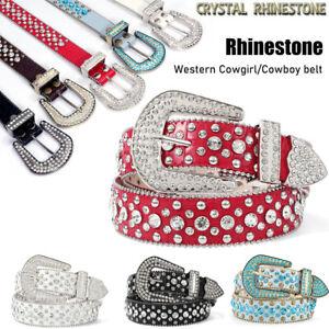 BB Simon Belts Crocodile Embossed Rhinestone Bling Cowboy Studded Shiny Belts US
