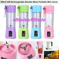 380ml Mini USB Juicer Fruit Smoothie Maker Portable Rechargeable Blender Machine