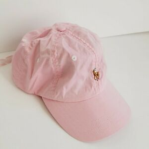 Polo Ralph Lauren Signature Pony Logo Baseball Hat Cap W/ Adjustable Strap PINK