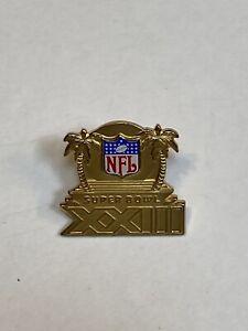 1989 NFL Super Bowl 23 San Francisco 49ers Cincinnati Bengals Rare Press Pin