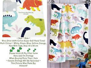 🦕 Next Kids Dino Super Soft Wash Hand Towel Cloth T Rex Triceratops Stegosaurus