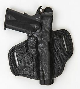 On Duty Conceal RH LH OWB Leather Gun Holster For BROWNING HI-POWER