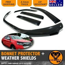 Bonnet Protector WEATHER SHIELDS fit Ford Ranger 2015-2019 PX2 PX3 Tinted Guard