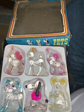 More details for vintage boxed set of 6 retro 1970s plastic crystal pets