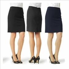 Polyester Knee-Length Solid Regular Size Skirts for Women
