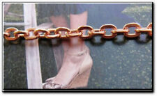 Ladies Solid Copper Link Bracelet 692G -3/16 inch wide - 6 1/2 to 9 inch lengths