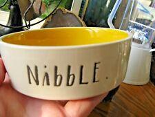 "New Rae Dunn ""Nibble"" ""Large Letter"" Cat, Cat Lady, Dog Bowl Dish-4 3/4"""