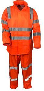 Orange Rain Suit Vic Rail Water Proof (Jacket and Pants)