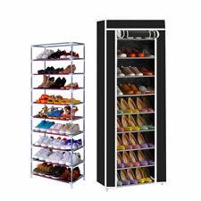 Zapatero con Cubierta de Tela 10 Alturas Estantes Organizador Zapatos Estanteria