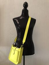 Beautiful REBECCA MINKOFF Mini Neon Yellow CROSSBODY PURSE NWT!