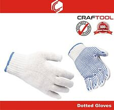 Dotted Cotton Knitted Working glove for Hand Protection – 2 pairs