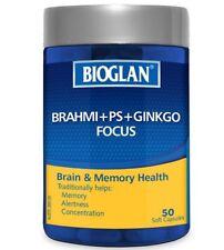 Bioglan Brahmi + PS + Gingko Focus Triple Action Brain Formula OzHealthExperts