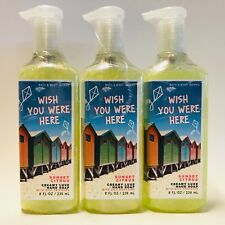 3 Bath & Body Works Wish You Were Here Sunset Citrus Creamy Luxe Hand Soap 8 oz