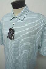 NEW! OXFORD GOLF RIVER CREST blue dry polo shirt sz L mens S/S#5028 c108