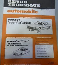Revue technique PEUGEOT 505 TI STI TURBO RTA 403 1980 RENAULT 16