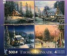 Thomas Kinkade Christmas Collection Multi-pack 4 in 1 Puzzle 500 Pcs #3671-2