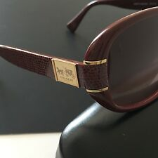 Coach Blaine HC8115 525514 Garnet Red Oval Sunglasses Rose Gradient Lens NWT