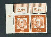 BRD Mi-Nr. 353y Ecke-Paar - DZ 8 - mit Druckerzeichen 8 ** postfrisch - Mi. 45,-