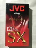 Jvc Sx Gold Premium Quality 6-hrs. T-120 Vhs Tape Sealed Blank