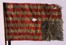 c 1865 Us American 36 Medallion Star s Flag, Southern Protest Upside Down Stick
