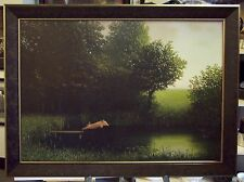 Sowa Kohler's Pig FRAMED Michael Sowa poster diving pig when pigs fly