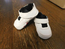 Nike Air Jordan AJF Baby Crib Shoes White Red 354957-102 Rubber sole sneakers